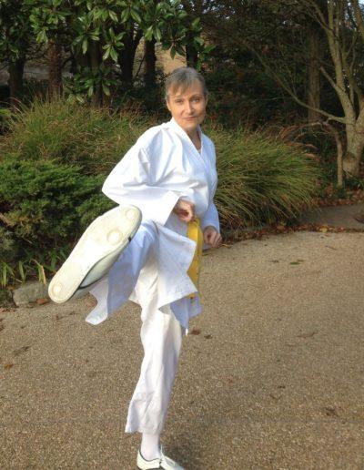 Corinne Corson rôle de sportive Kung Fu